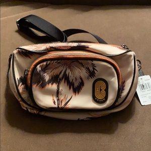 NWT Authentic Coach palm nylon court belt bag